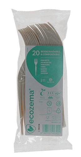 alternative alla plastica monouso: forchette biodegradabili