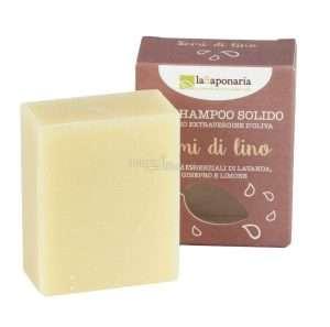 immagine di shampoo solido semi di lino