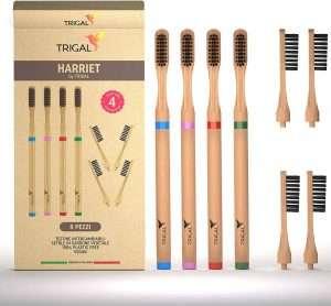 spazzolino in bamboo con testina intercambiabile