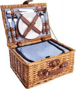 cesto di vimini picnic chic